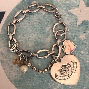 Juicy Couture Silver Rare Heart Charm Bracelet ✨